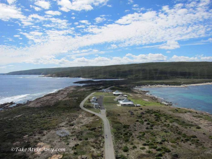 Perth to Albany Road Trip Cape Leeuwin Lighthouse, where two oceans meet. Right: Southern Ocean, left: Indian Ocean