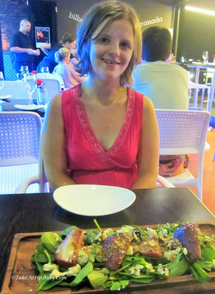 Pear Salad for dinner in Airlie Beach, Australia