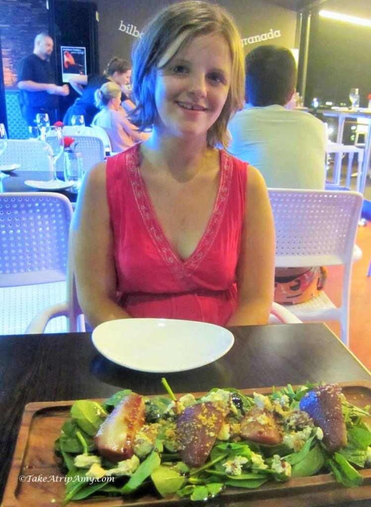 Pear Salad for dinner in Airlie Beach, Australia