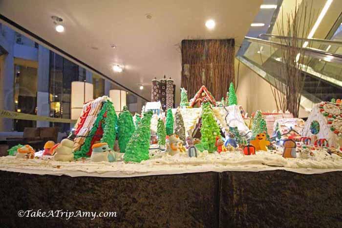Gingerbread Christmas Village, Bonaventure Hotel, Los Angeles, California, United States