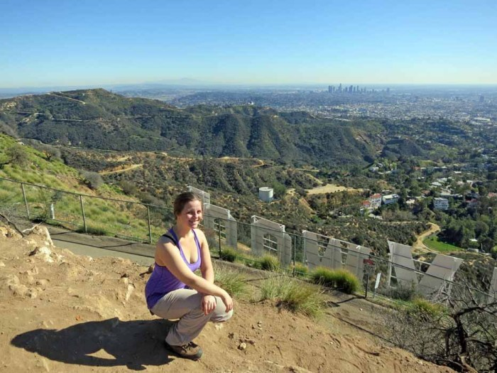 I climbed Mount Hollywood at Griffith Park, Los Angeles, California, United States