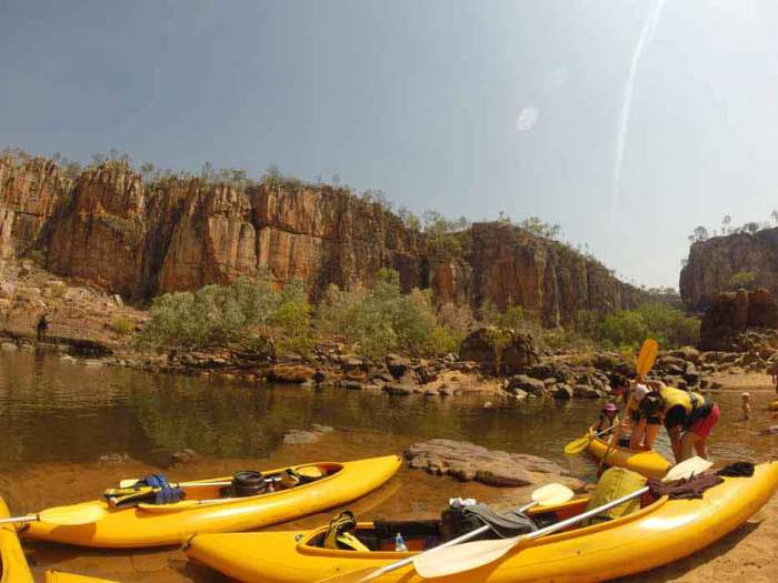 Kayaking in Katherine Gorge, Northern Territory, Australia