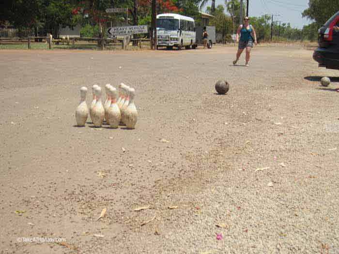 Street Bowling, Daly Waters Pub,  Northern Territory, Australia