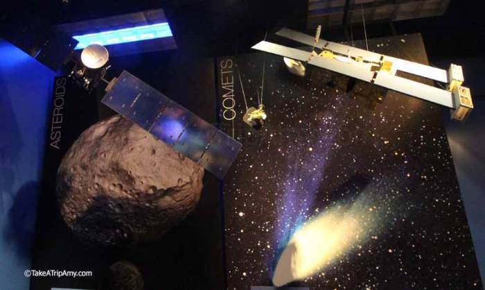 Museum at JPL shows replica models of each robot at its planet.