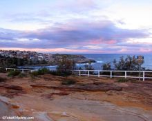 Coogee Beach at sunset. Sydney, NSW, Australia