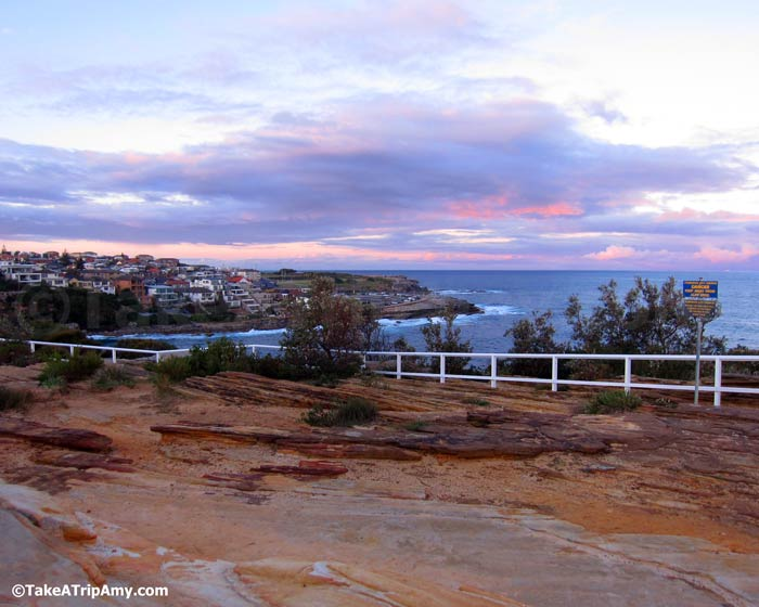 Coogee Beach at sunset. Sydney, NSW, Australia