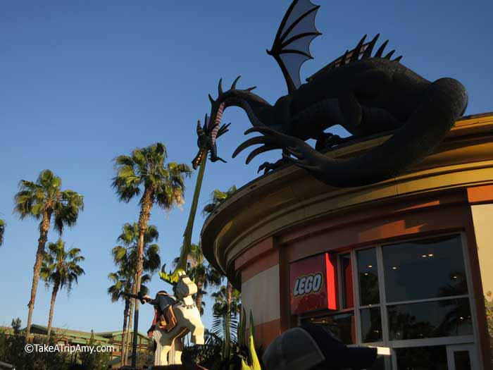 Dragon featured in Disney's Sleeping Beauty, made from LEGOS® Downtown Disney LEGO® Store, Anaheim, CA, USA