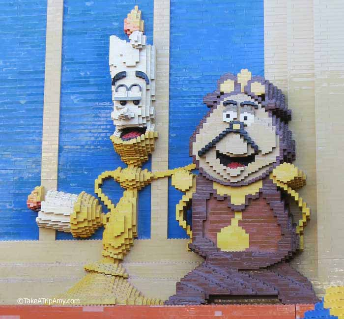 Lumiere and Cogsworth Downtown Disney LEGO® Store, Anaheim, CA, USA