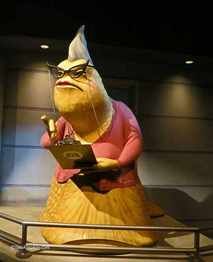 Roz in the Monsters, Inc. Mike & Sulley to the Rescue Ride.