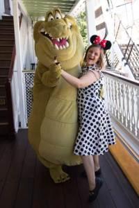 Dancing with Louis at Disneyland