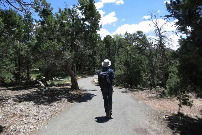 Rim Trail, South Rim, Grand Canyon National Park is easy for all to access.