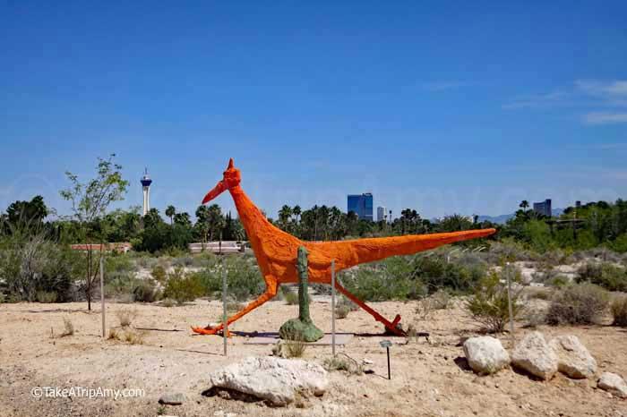 Iconic roadrunner garden art at the Botanical Garden at Springs Preserve in Las Vegas, Nevada , USA