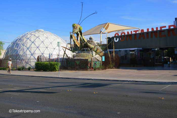 Stepping off the Las Vegas Strip,Downtown Container Park, Las Vegas ---Takeatripamy.com
