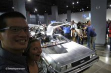 Fully restored Delorean Time Machine from Back to the Future at Peterson Automotive Museum.